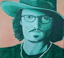 Johnny Depp with hat by TRACY BAGNALL