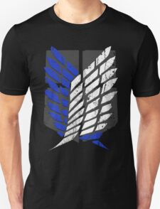Attack On Titan - Survey Corps Logo (Blue Grunge v2) T-Shirt