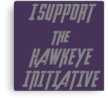 I Support the Hawkeye Initiative  Canvas Print