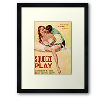 Pulp Sex Cover - Reprint of Vintage Pulp Sexy book  - Framed Print