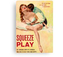 Pulp Sex Cover - Reprint of Vintage Pulp Sexy book  - Canvas Print