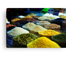 Spices in the markets Canvas Print
