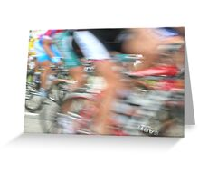 Cyclists in Motion Greeting Card