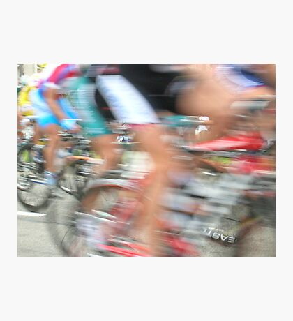 Cyclists in Motion Photographic Print