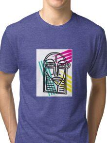 Life Lines  -  Face,  No.3 Tri-blend T-Shirt