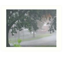 A Stormy Day in Columbia, SC Art Print