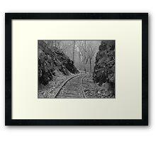 Desolate Tracks Framed Print