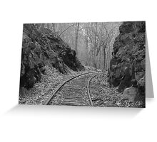 Desolate Tracks Greeting Card