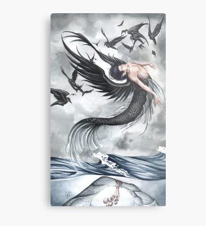 Raven Waves Metal Print