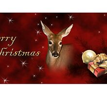 Merry Christmas Deer by jkartlife