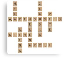 Warehouse Scrabble Canvas Print