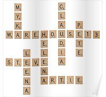 Warehouse Scrabble Poster