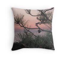 pastels & pines Throw Pillow