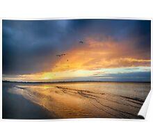 Stormy sunset Hervey Bay Poster