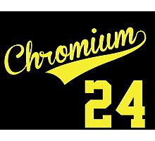 Cool Baseball-Style 'Chromium (Cr) 24' Periodic Table Element T-Shirt and Accessories Photographic Print