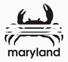 Maryland Retro Crab Logo Kids Tee