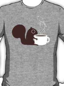 Squirrel Loves Coffee T-Shirt