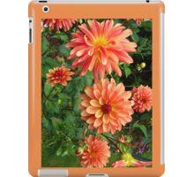Group of Peach-colored Dahlias iPad Case/Skin