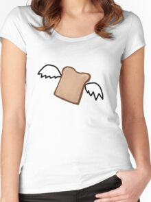 Flying Toast Women's Fitted Scoop T-Shirt