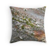 Glacier rock colours Throw Pillow