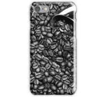Coffee beans in black and white iPhone Case/Skin
