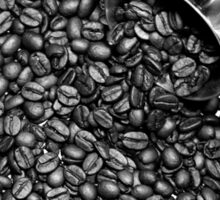 Coffee beans in black and white Sticker