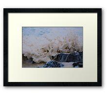Frothy Wave Framed Print
