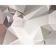 Abstract white gray triangles Photographic Print
