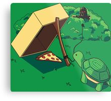 Turtle Trap Metal Print