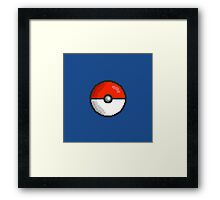 Pixel Pokeball Framed Print