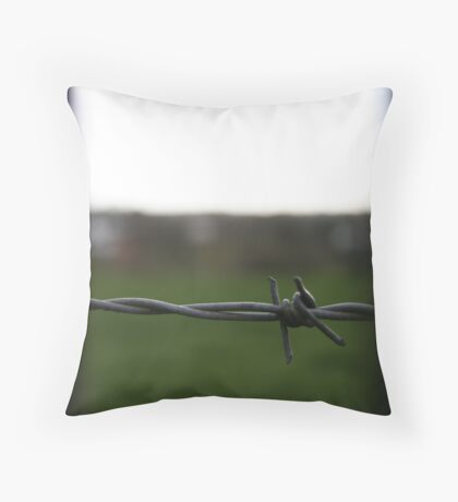 A Barbed View Throw Pillow