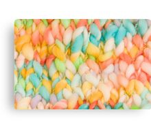 Bright knit background Canvas Print