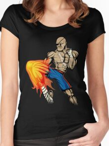 Tiger Knee Sagat Women's Fitted Scoop T-Shirt