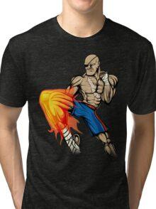 Tiger Knee Sagat Tri-blend T-Shirt