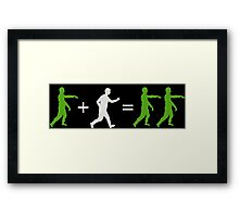 Zombie Math Framed Print