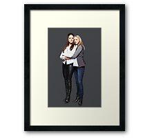 """Lost Girl - Bo x Lauren """"Doccubus"""" Framed Print"""