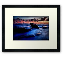 Idle Rock Framed Print