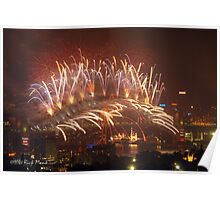 Sydney Lights up - New Years Eve 2007/2008 Poster