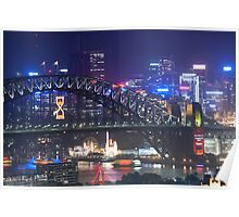 Harbour Bridge and North Sydney Poster