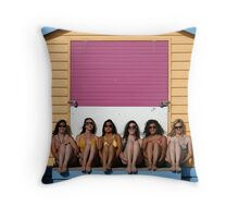 Beauty and the Bathing Box Throw Pillow