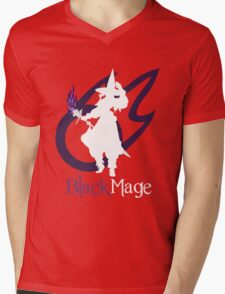 Black Mage - Final Fantasy XIV [black] Mens V-Neck T-Shirt