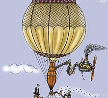 STEAMPUNK HOT AIR BALLOON by squigglemonkey