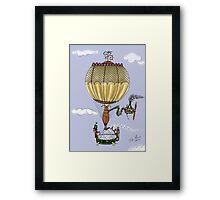 STEAMPUNK HOT AIR BALLOON Framed Print