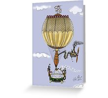 STEAMPUNK HOT AIR BALLOON Greeting Card
