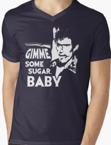 Evil Dead - Ash - Gimme Some Sugar, Baby Mens V-Neck T-Shirt