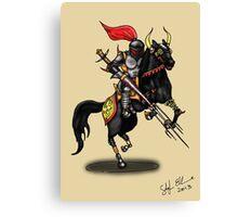 BLACK KNIGHT ON HORSE Canvas Print
