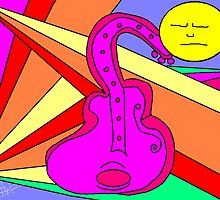 Rainbow Guitar by Tracey Pearce