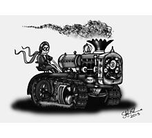 1923 BEST TRACTOR STEAMPUNK (BLACK AND WHITE) Photographic Print