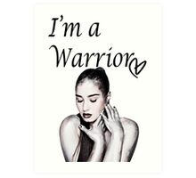 Demi Lovato Warrior Art Print