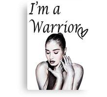 Demi Lovato Warrior Canvas Print